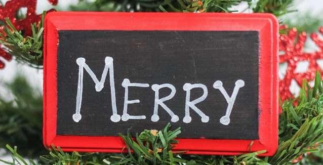 Festive DIY Chalkboard Ornaments