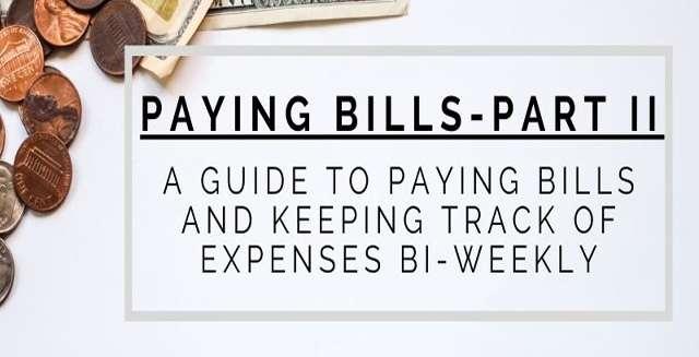 Paying Bills Bi-Weekly Using a Budgeting Spreadsheet