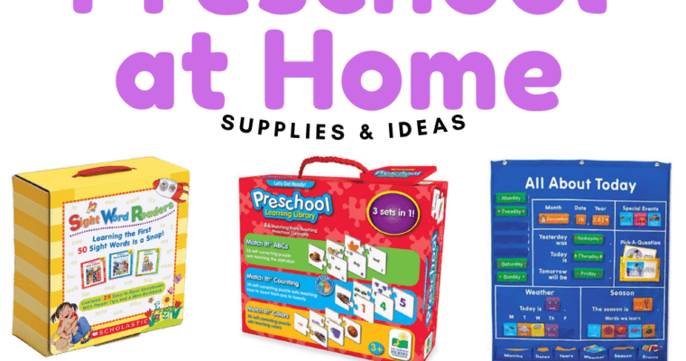 10 Activity and Supply Ideas for Teaching Preschool at Home