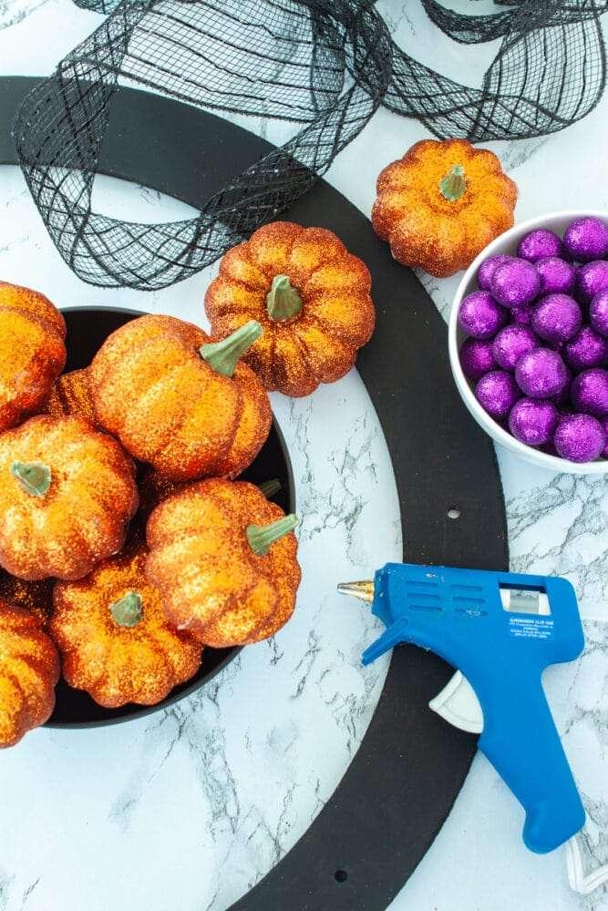 pumpkin wreath supplies