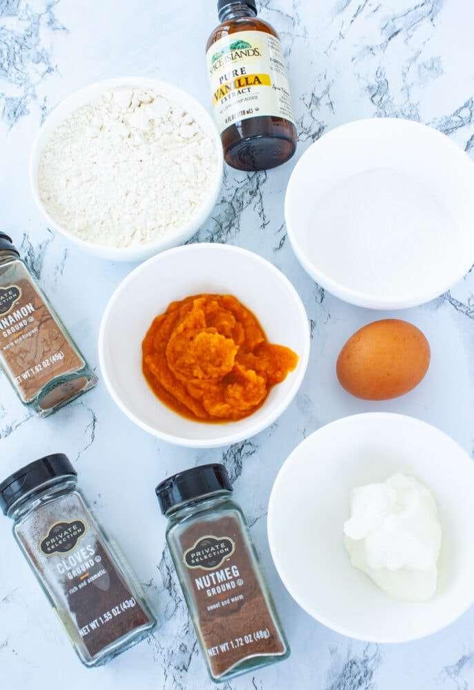 pumpkin spice scone ingredients